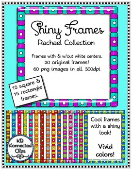 Shiny Square and Rectangle Frames - Rachael Collection