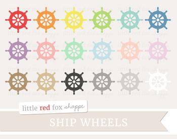 Ship Wheel Clipart; Nautical