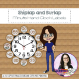 Shiplap and Burlap Analog Clock Numbers Classroom Decor