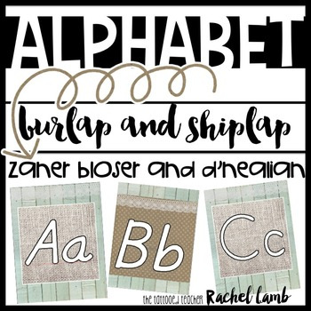 Shiplap and Burlap Print Alphabet Zaner Bloser and D'Neali
