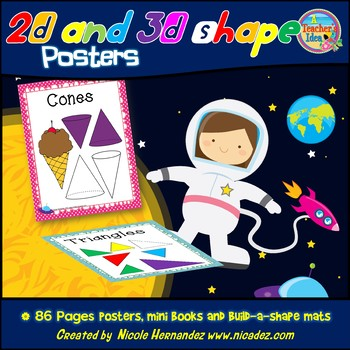 Shipshape Classroom 2D and 3D Shape Posters