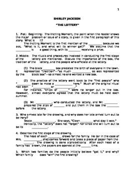 "Shirley Jackson's ""The Lottery"" Handout"