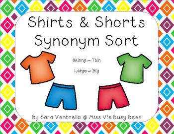 Shirts and Shorts Synonyms Sort