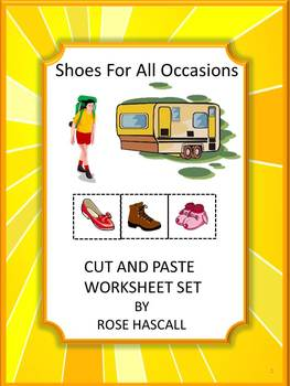 Life Skills Shoes for All Occasions Cut And Paste No Prep