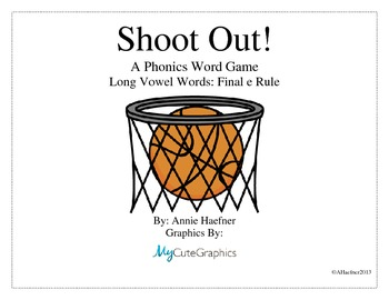 Shoot Out! A Phonics Word Game: Long Vowel Words
