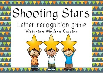 Shooting Stars - letter recognition game - Victorian Moder