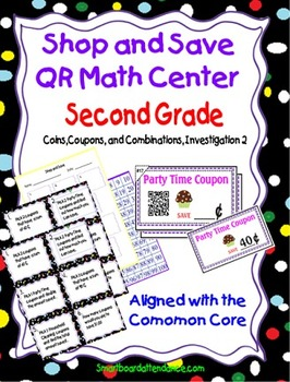 Shop and Save QR math Center Aligned with the Common Core
