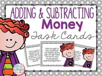Shop 'till Ya Drop- Adding and Subtracting Money Task Cards