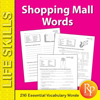 Shopping Mall Words
