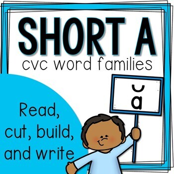 Short A CVC Word Family Building and Sentence Writing