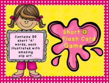 Short A Flashcard Game - CVC Words
