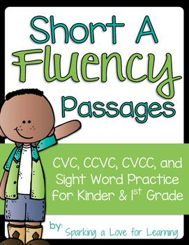 Short A Fluency Passages