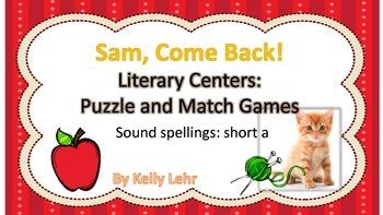 Short A Literacy Centers - Reading Street Unit 1 Week 1 Sa