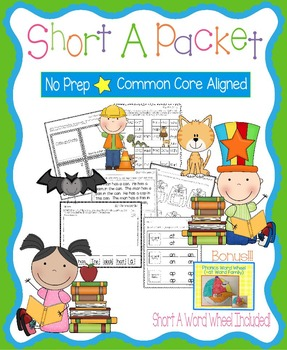 Short A No Prep Packet - Worksheets, Games and Activities,