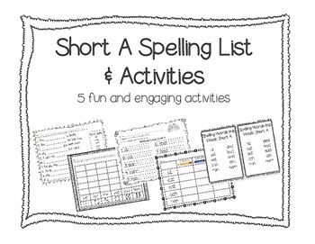 Short A Spelling Words & Activities