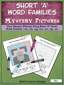 Short 'A' Vowel Word Families Mystery Pictures