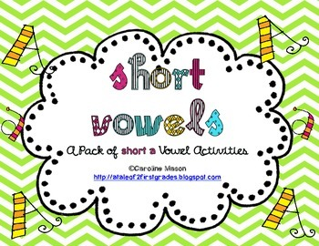 Short A Vowel Word Work Pack