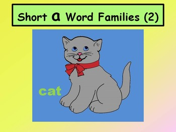 Short A Word Families 2 (No Animation)