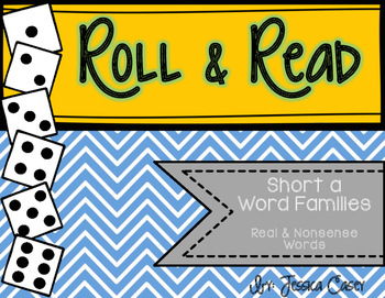 Short A Word Families Roll & Read- Real & Nonsense Words