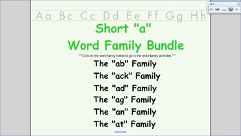 Short A Word Family BUNDLE: includes ab, ack, ad, ag, an, at