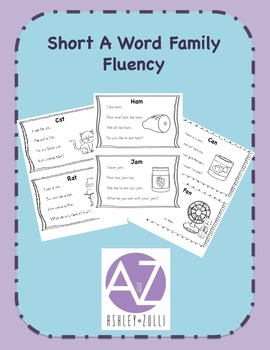 Word Family Short A Fluency