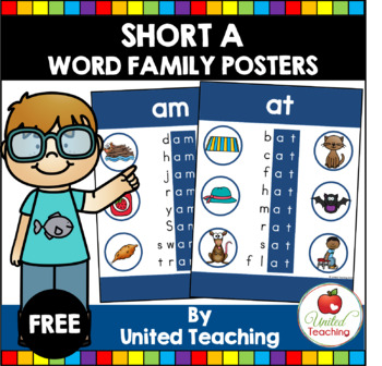 Short A Word Family Posters