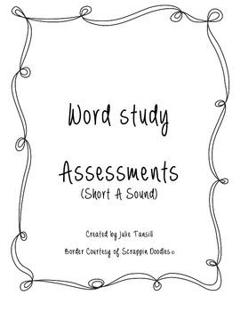 Short A Word Study