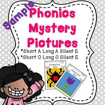 Short A and Long A Silent E Phonics Mystery Picture