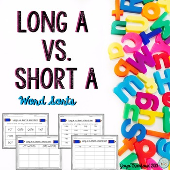Vowels: Long A Vs. Short A Word Sorts