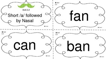 Short A followed by Nasal Flashcards
