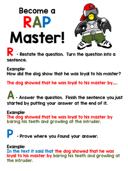 Short Answer Organizer RAP