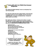 Short Answer Response Transitions + Mnemonic Memory Tool STAAR!