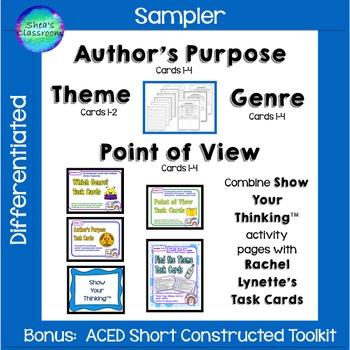 Author's Purpose, Point of View, Genre & Theme Short Const