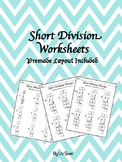 Short Division Worksheets With Layout