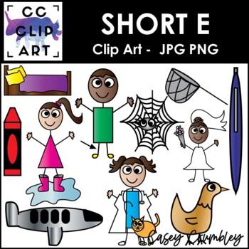 Short E CVC Clip Art Images