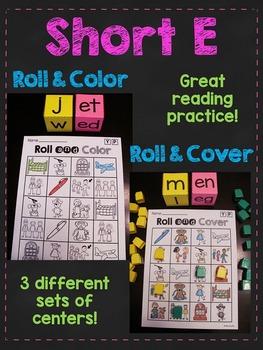 Short E CVC Words Roll Centers