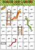 Short E CVC Words Snakes and Ladders Game