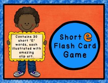Short E Flashcard Game - CVC Words