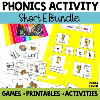 Short E Phonics Activities