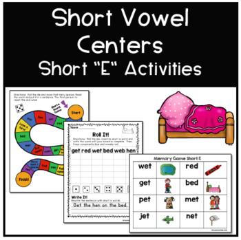 Short E Phonics Centers