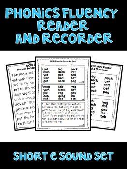 Short E - Phonics Fluency Assessment