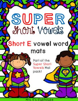 Short E Word Mats