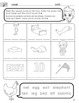 Short E Words Worksheet with Instructions translated into