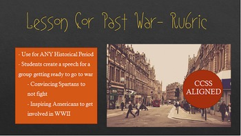 Short Historical Speech for War: Rubric and Instructions