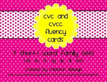 Short-I Fluency Cards