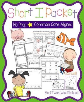 Short I No Prep Packet - Worksheets, Games and Activities,