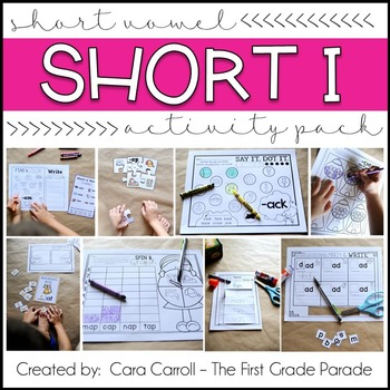 Short Vowels CVC Word Family Activities (Short Vowel I)