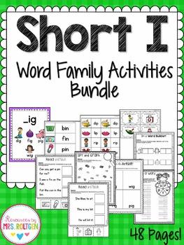 Short I Word Family Activities Bundle
