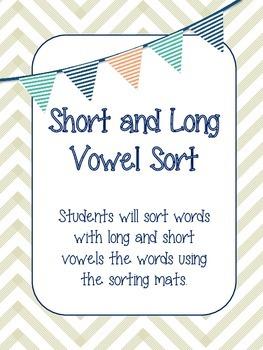 Short & Long Vowel Sort Game