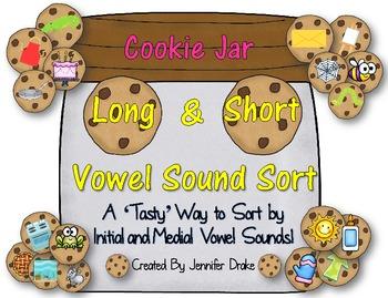 Short & Long Vowel Sound Sort; Cookie Jar Version! ~100 Pi